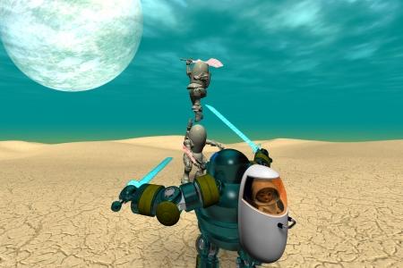 2021年1月 鋼鉄武装サムライ1(3Dキャラ侍ロボット)