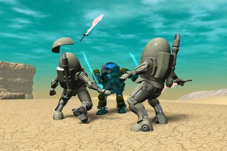 2021年1月 鋼鉄武装サムライ2(3Dキャラ侍ロボット)
