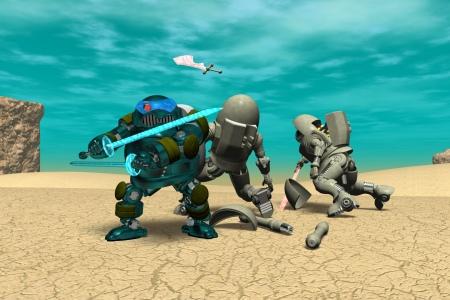 2021年1月 鋼鉄武装サムライ3(3Dキャラ侍ロボット)