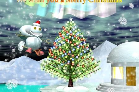 2011年12月 クリスマス用壁紙