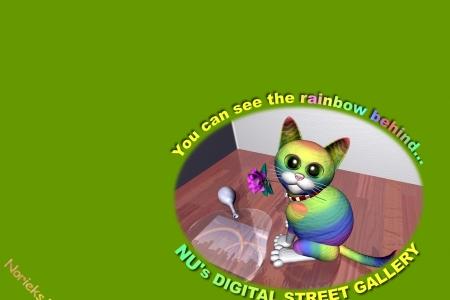 2005年9月 虹色のネコ