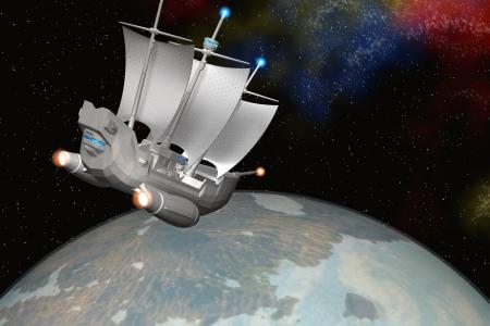 2013年11月 宇宙帆船(StarMaria)と惑星