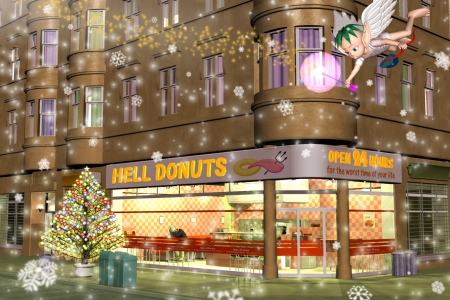 2009年12月 クリスマス in Hell Donuts
