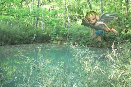 2013年6月 ふたつ池の天使(合成)