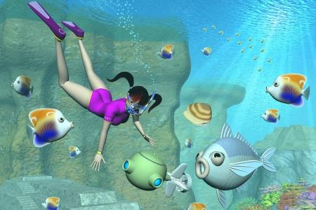 2015年10月 3Dキャラと水中用ドローンと海