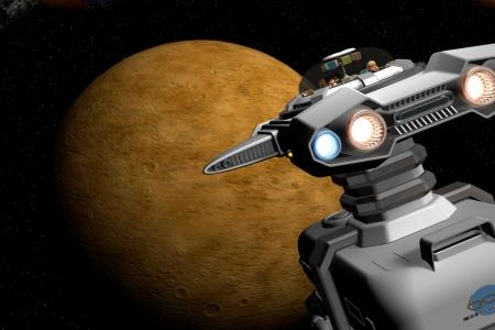 2015年7月 火星に向かう宇宙船