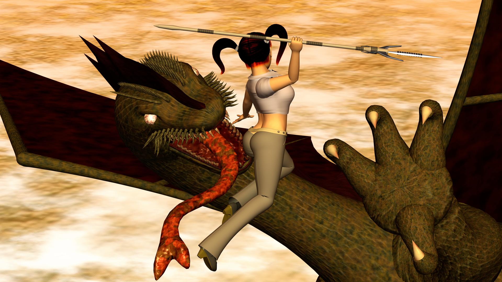 2017年12月 OL戦士とドラゴン2(3Dキャラ)
