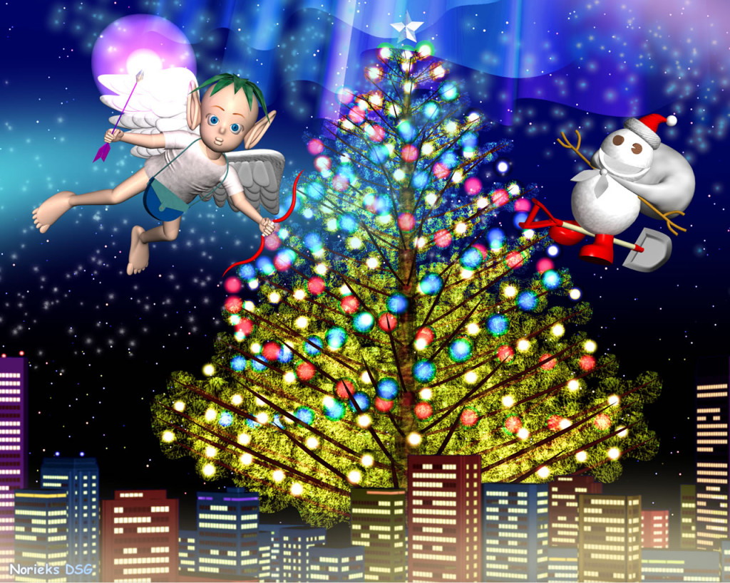 3DCG壁紙 クリスマス