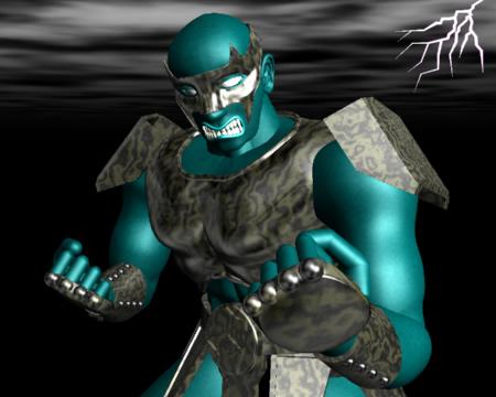 怒る戦士(3Dキャラクター)