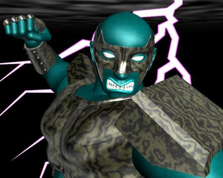 怒る戦士アップ(3Dキャラクター)
