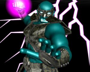 怒る戦士の拳(3Dキャラクター)