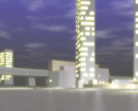 オフィス街の夜景(シーン2)(3Dの建物・街)