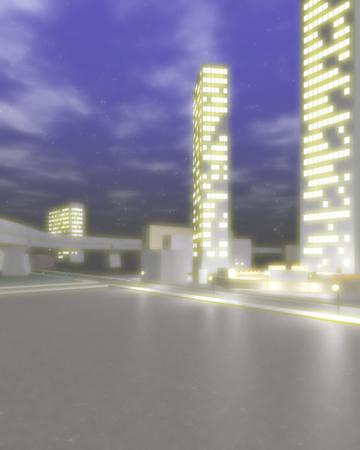 オフィス街の夜景(シーン4)(3Dの建物・街)