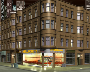 3Dの建物・街