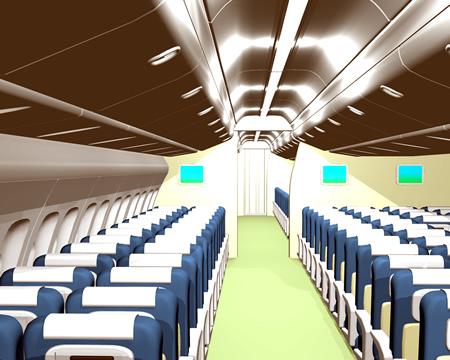 旅客機内客席(3Dの乗り物)