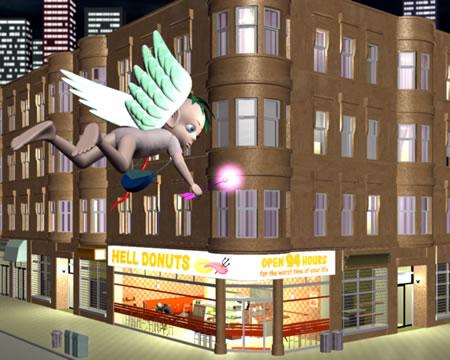 エンジェルが行くドーナツ店(3Dキャラクター)