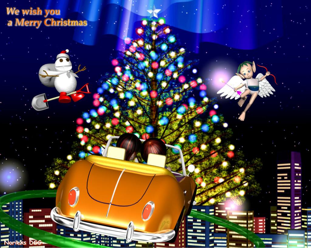 3DCG壁紙 Merry Christmas