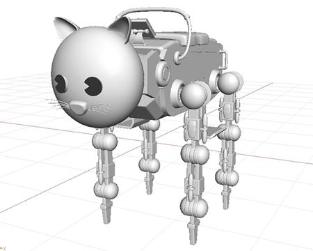 乗用動物ロボ(シェーディング)(3Dの乗り物)