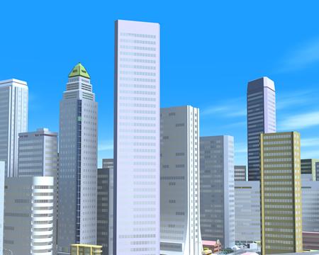高層ビル群(3Dの建物・街)