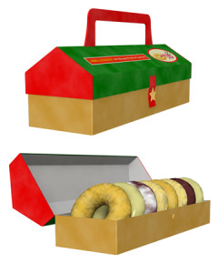 ドーナツと箱(その他の3DCG)
