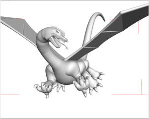 西洋の竜(シェーディング)(3Dキャラクター)