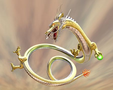ドラゴン(東洋の龍)(3Dキャラクター)