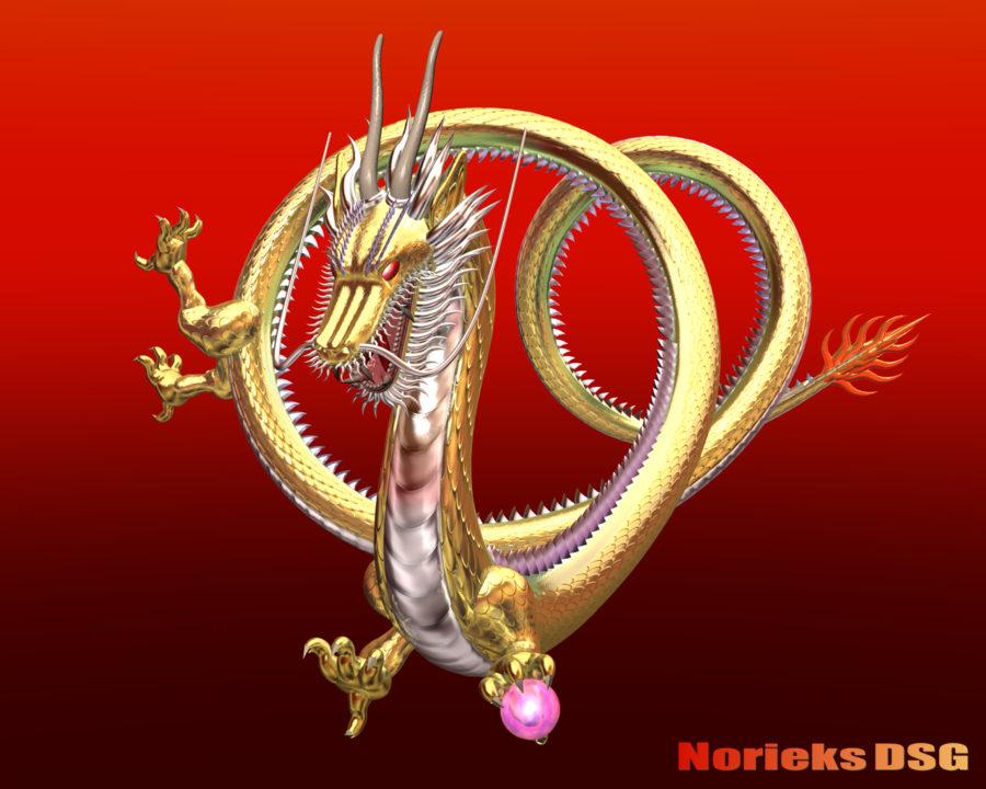 3DCG壁紙 メタルドラゴン