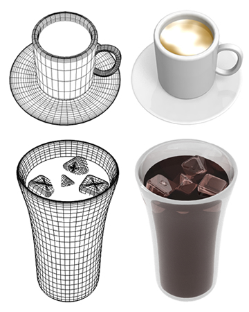 コーヒー/ラテ(その他の3DCG)