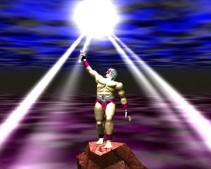 戦士と剣の発光(3Dキャラクター)