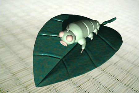 芋川喜三郎と葉(3Dキャラクター)