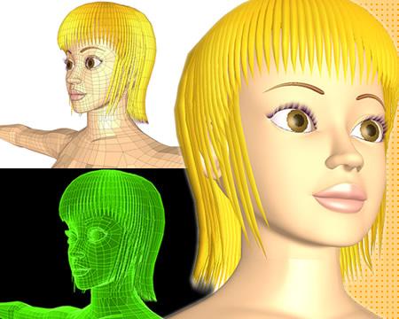 ポリゴンガール(顔)(3Dキャラ)
