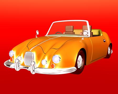 乗用車(オープンカー)(3Dの乗り物)