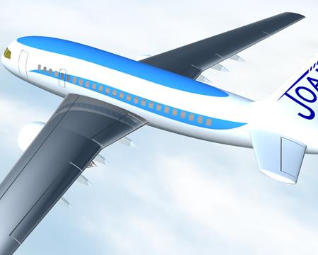 旅客機(別角度)(3Dの乗り物)