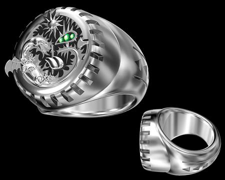 メタルリング(指環)(その他の3DCG)