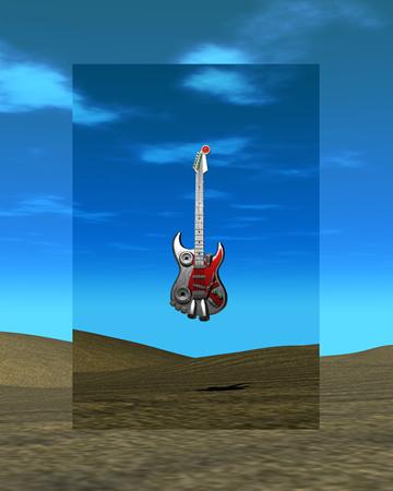 3DCGメタルギター