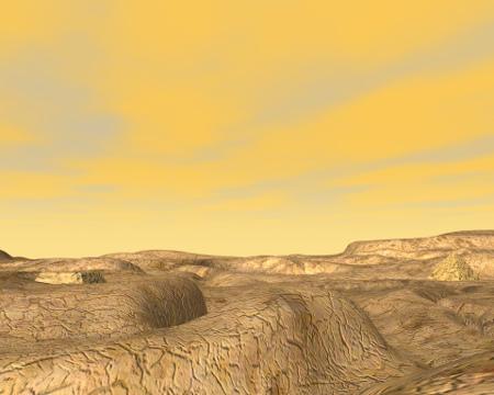 惑星地表(別角度)(その他の3DCG)