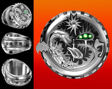 メタルリング(指環)別角度(その他の3DCG)