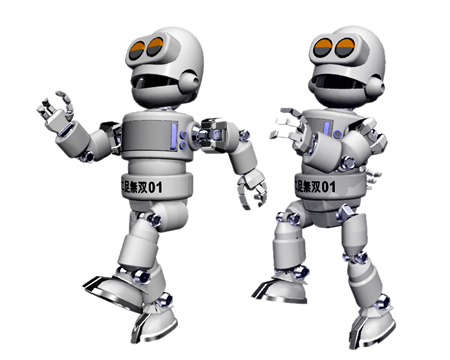 二足歩行ロボット(その他の3DCG)