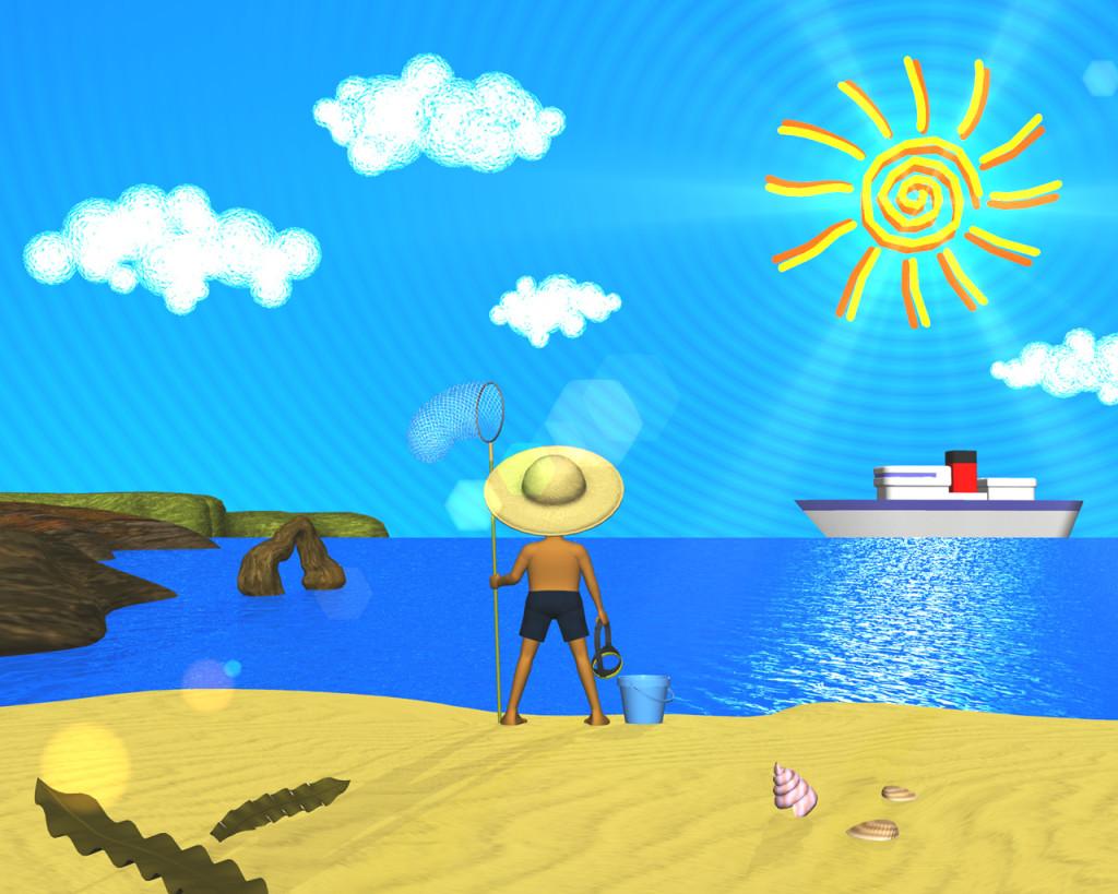 3DCG壁紙 海は・・