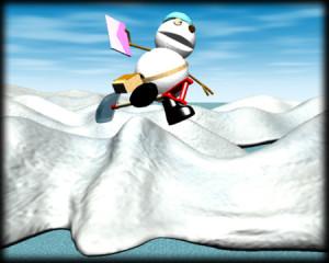 スノーポストマンと南極(3Dキャラクター)