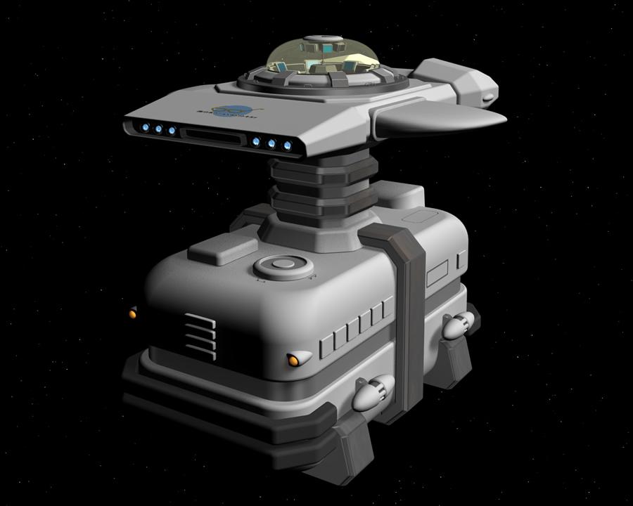 宇宙船(輸送船)(3Dの乗り物)