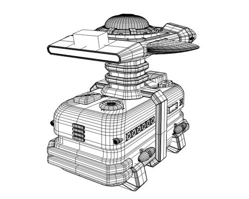 宇宙船(輸送船)ワイヤーフレーム(3Dの乗り物)
