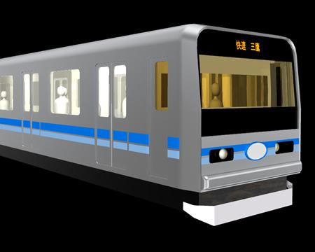 地下鉄電車(3Dの乗り物)