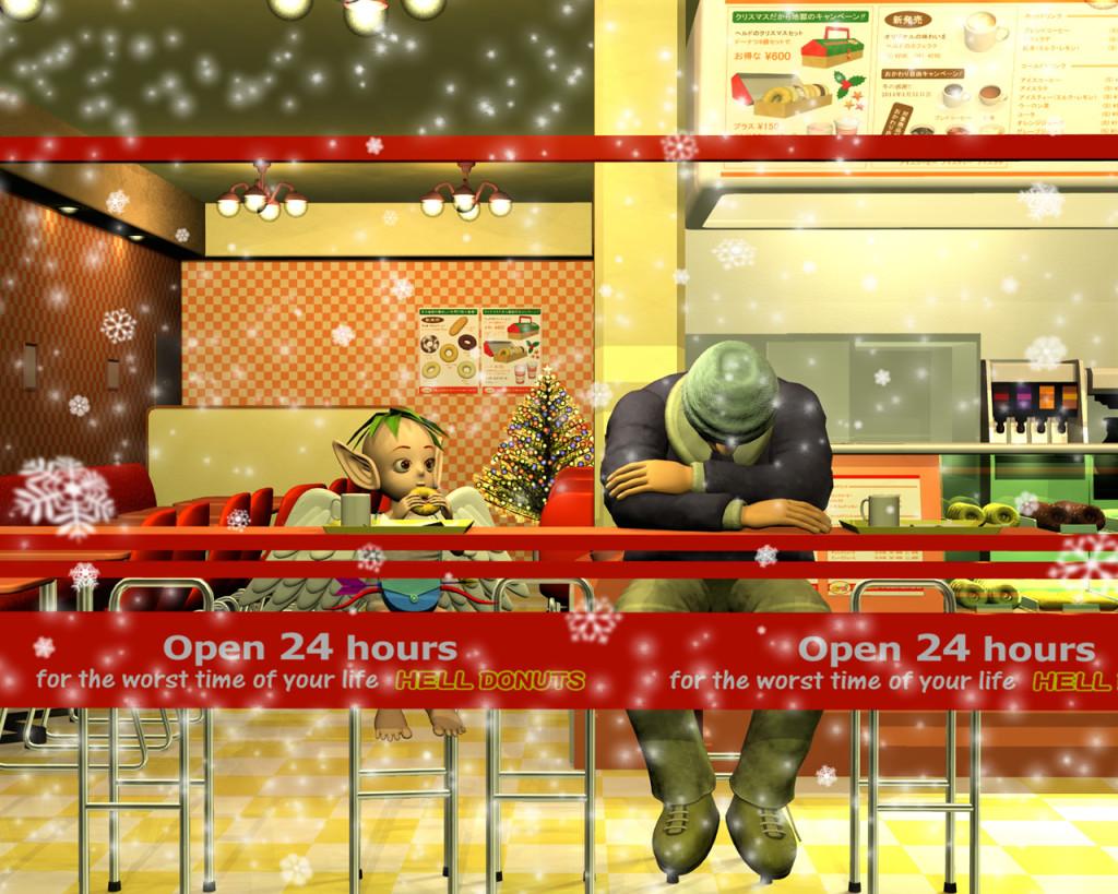 3DCG壁紙 その内いいことあるで・・・のメリー・クリスマス