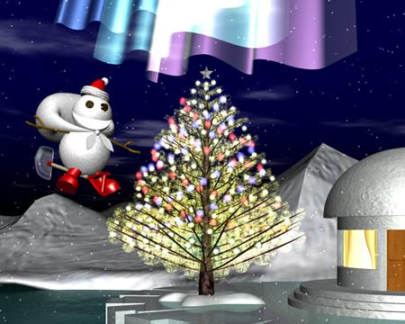 スノーポストマンと南極のクリスマス(3Dキャラクター)
