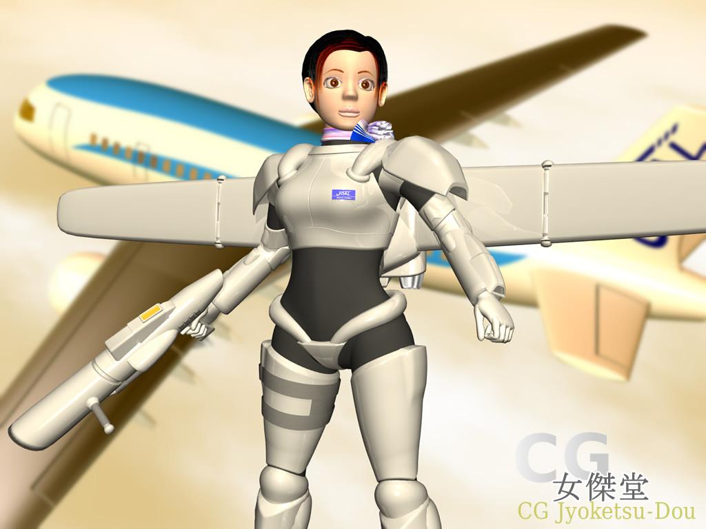 スッチー女傑(別角度)(3Dキャラクター)