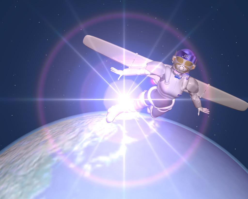 3DCG壁紙 宇宙のスチュワーデス女傑