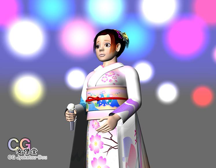 演歌歌手イントロ(3Dキャラクター)