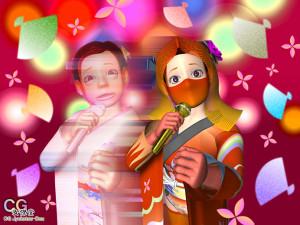 演歌歌手の変身(3Dキャラクター)