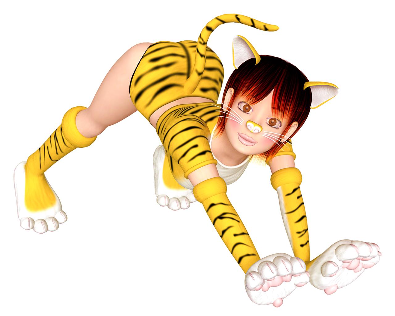 虎ガール(3Dキャラクター)